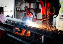 cnc pipe processing 260x185 - Cement Mortar Line Pipe Fabrication