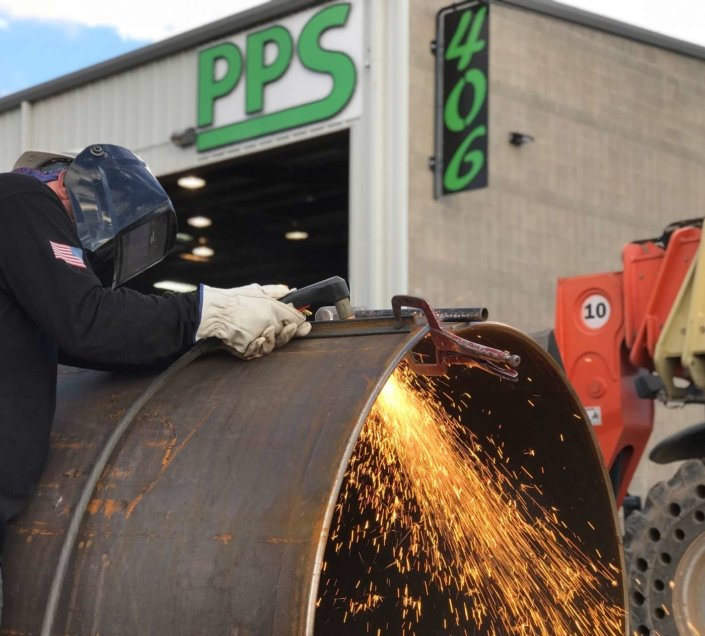 pps building with welder